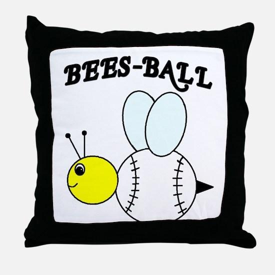 BEES-BALL Throw Pillow