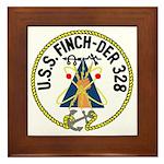 USS Finch (DER 328) Framed Tile