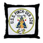USS Finch (DER 328) Throw Pillow