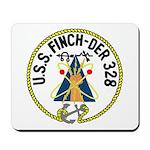 USS Finch (DER 328) Mousepad