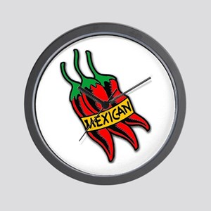 Mexican Hot Chiles Wall Clock