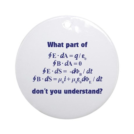 Maxwell's Equations Ornament (Round)