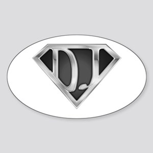 Super DJ(metal) Oval Sticker