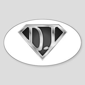 Super DJ(metal) Oval Sticker