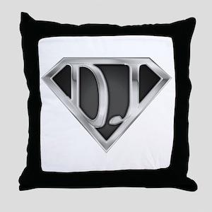 Super DJ(metal) Throw Pillow