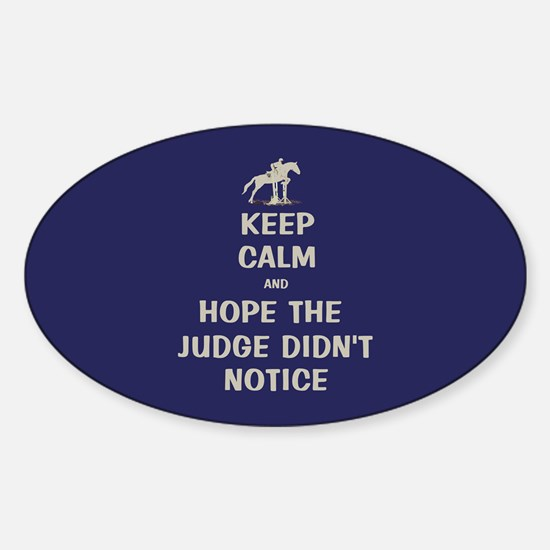 Funny Keep Calm Horse Show Decal