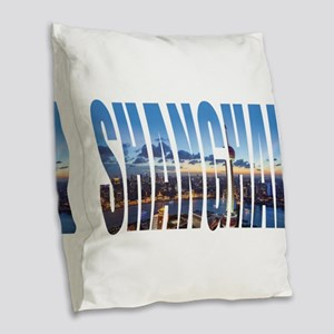 Shanghai Burlap Throw Pillow