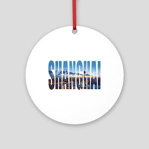 Shanghai Round Ornament