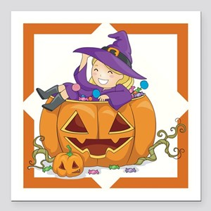 "WHICH WITCH IS WHICH? Square Car Magnet 3"" x 3"""