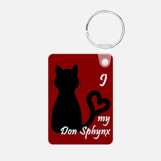 Don Sphynx Cat Heart Keychain Keychains