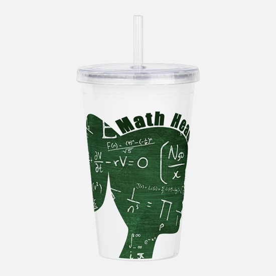Math Head Acrylic Double-wall Tumbler