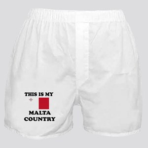 This Is My Malta Country Boxer Shorts