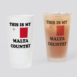 This Is My Malta Country Drinking Glass