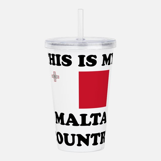 This Is My Malta Count Acrylic Double-wall Tumbler