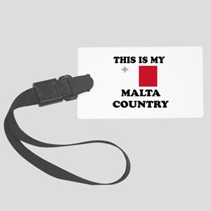 This Is My Malta Country Large Luggage Tag