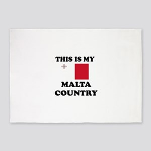 This Is My Malta Country 5'x7'Area Rug