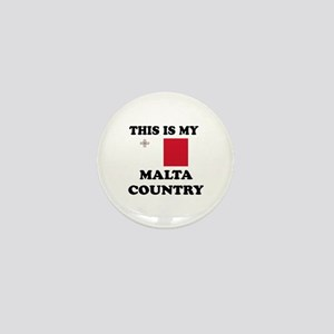 This Is My Malta Country Mini Button
