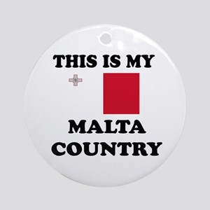 This Is My Malta Country Round Ornament