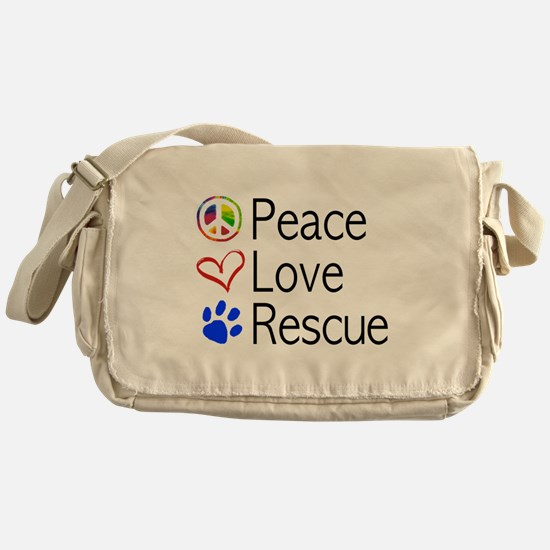 Peace Love Rescue Messenger Bag