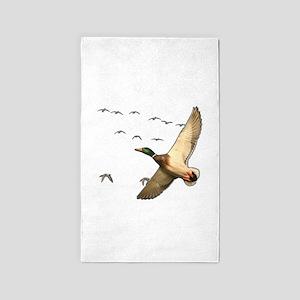 Mallard ducks Canadian geese Area Rug