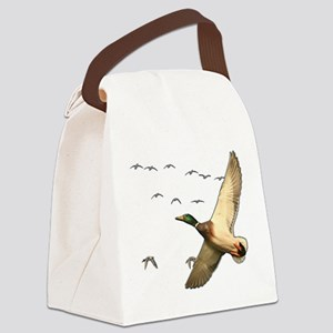 Mallard ducks Canadian geese Canvas Lunch Bag