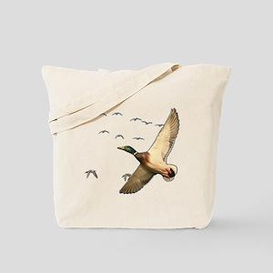 Mallard ducks Canadian geese Tote Bag