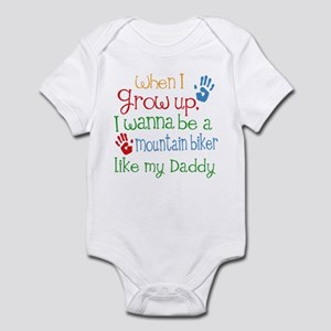 Mountain Biker Like Daddy Infant Bodysuit