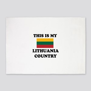 This Is My Lithuania Country 5'x7'Area Rug