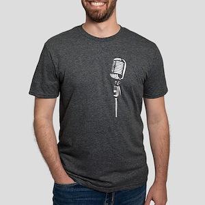 Retro Microphone Women's Dark T-Shirt