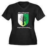 Drygestan Women's Plus Size V-Neck Dark T-Shirt