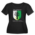 Drygestan Women's Plus Size Scoop Neck Dark T-Shir