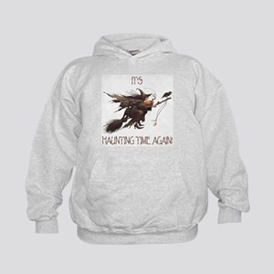 Witch haunting time Kids Hoodie
