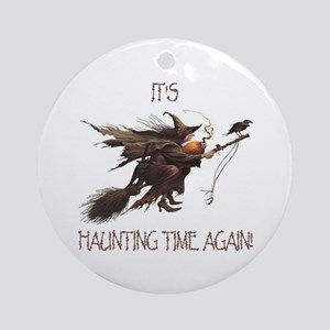 Witch haunting time Ornament (Round)