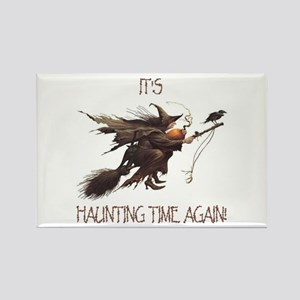 Witch haunting time Rectangle Magnet