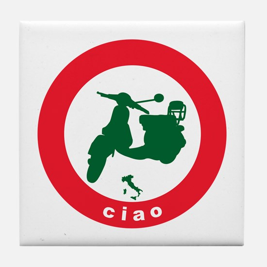ciao Scooter Tile Coaster
