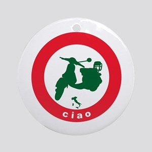 ciao Scooter Ornament (Round)