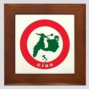 ciao Scooter Framed Tile