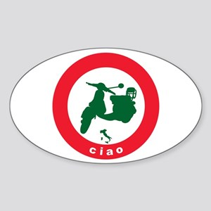 ciao Scooter Oval Sticker