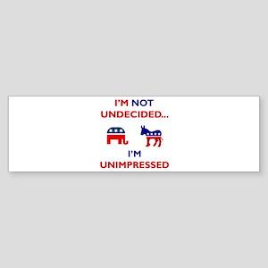 Unimpressed Sticker (Bumper 10 pk)
