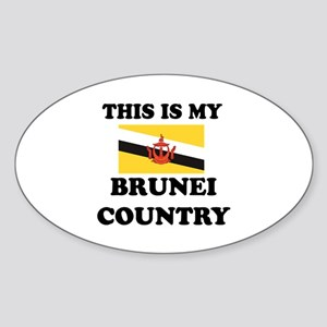 This Is My Brunei Country Sticker (Oval)