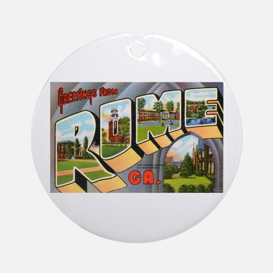 Rome Georgia Greetings Ornament (Round)