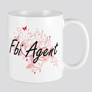 Fbi Agent Artistic Job Design with Butterflie Mugs