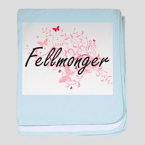 Fellmonger Artistic Job Design with B baby blanket