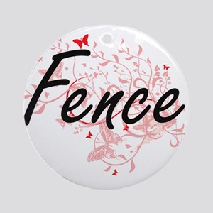Fence Artistic Job Design with Butt Round Ornament