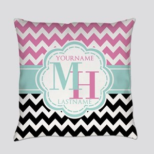 Personalized Monogram Black and Pi Everyday Pillow