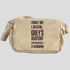 Greys Anatomy trust me black Messenger Bag