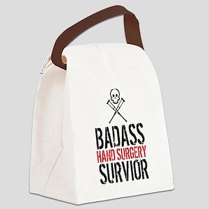 Badass Hand Surgery Survivor Canvas Lunch Bag