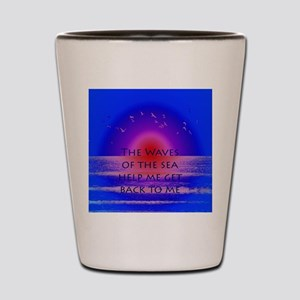 Waves of the Sea Quotation on Pink Hori Shot Glass