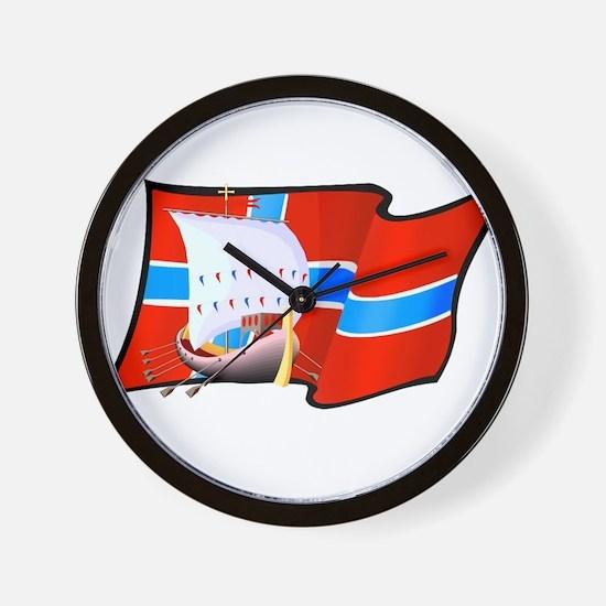 Norge Viking Ship Wall Clock