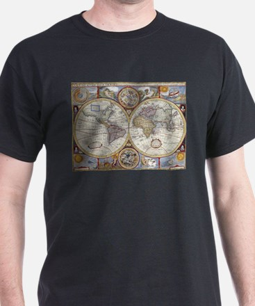 Vintage Map of The World (1626) T-Shirt